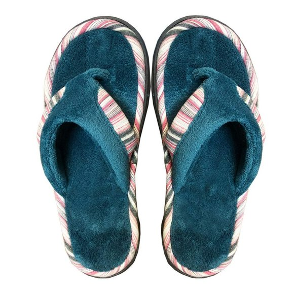 NEW isotoner Women's Mandy Microterry Thong Slipper